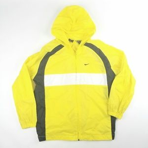 Kids Unisex Nike Yellow Zip Up Wind Breaker Jacket